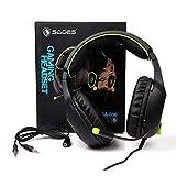 SADES SA708 verdrahtet 3,5 mm Audio Stecker Gaming Headset Kopfhörer Gaming mit Mikrofon (grün) - 7