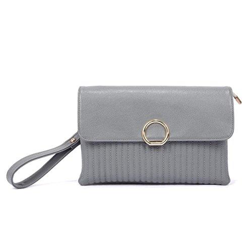 Borsa Della Frizione Sacchetto Di Spalla Signora Messenger Bag Modo Della Molla Gray