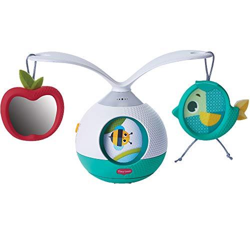Tiny love Tummy Time Mobile Giostrina Musicale per Bambini e Gioco per i Momenti a Pancia in Giù, con Suoni e Musica, Giostrina Culla e Passeggino, Collezione Meadow Days, Azzurro