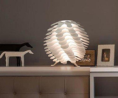 DLUF Lega E27 creativo Pine Lampada da tavolo stile semplice