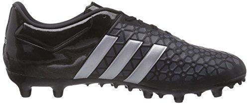 adidas Control FG/AG Herren Fußballschuhe Noir (Core Black/Silver Met/Solar Yellow)