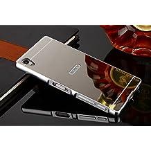Funda Sony Xperia Z5 , Carcasa Trasera Xperia Z5 Aluminio y PC Efecto Espejo Funda Sony Xperia Z5 Marco Bumper