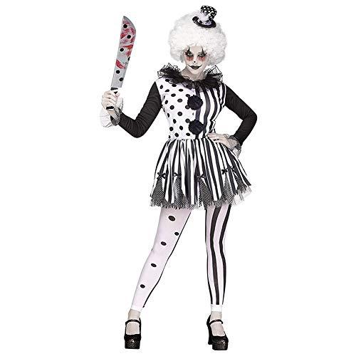 Mörder Clown Kostüm Für Erwachsene - Kostüme Erwachsener Damen Frauen Christmas Halloween Karneval Cosplay Sexy Party Horror Clown Damenkostüm Damen Fancy Dress Mörder Costume Kostümzubehör Kleid und PerückeM