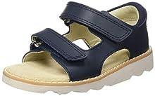 Clarks Crown Root T, Sandales Bride arrière garçon, Bleu (Navy Leather-), 24 EU