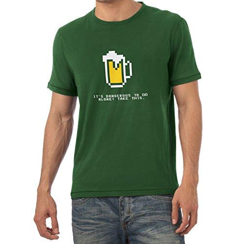 TEXLAB - Dangerous Beer - Herren T-Shirt Flaschengrün