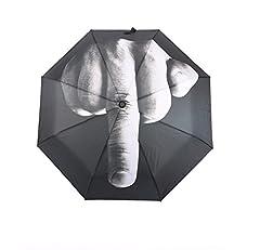 Idea Regalo - Parapluie avec doigts, doigt d'honneur, centrale middlef Ingersoll parapluie cadeau, main, créatif, Noël, gadget de Fête, pliable, Parasol, Accessoire, Couleur: Noir, Gris