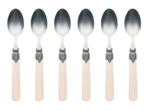 uego de 6 cucharillas de postre (2,5 mm), diseño vintage
