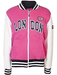 Childrens chaquetas Sudaderas Niñas Niños de béisbol Londres College Tops Kids con cremallera Jersey