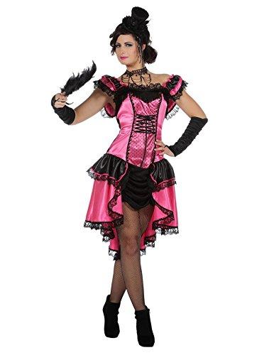Wilbers Can Can Girl Kostüm Saloon Damenkostüm Damen Show Tanz Burlesque Karneval Pink Pink 46