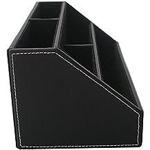 Aussel in pelle Pu multifunzione, Organizer Office Desk Supply-Scatola porta fazzoletti con 4 scomparti, per matita, telecomando, cellulare, carte da visita, Organizer porta trucchi