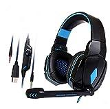 Gaming Headset – Headset Gaming Kopfhörer für PS4, Xbox One (Adapter erforderlich), Nintendo Switch (Audio) PC Gaming Headset blau schwarz/blau
