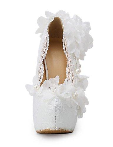 WSS 2016 Chaussures de mariage-Blanc-Mariage / Habillé / Soirée & Evénement-Talons-Talons-Homme 5in & over-us5 / eu35 / uk3 / cn34