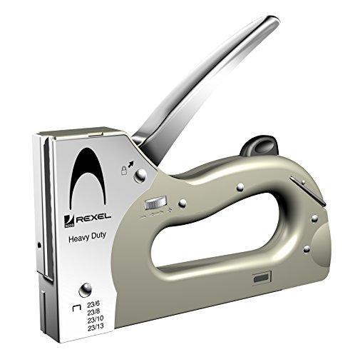 Rexel 2101209 Handtacker (Unterlader, verstellbar, Heftklammern Nr. 23/6, 23/8, 23/13)