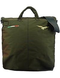 Bolsa para casco de vuelo bordada con águila Pilot Civil - Verde