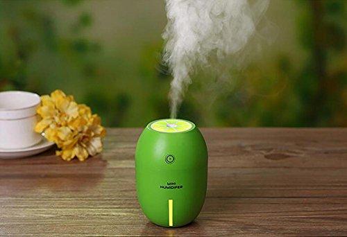 SCZLSYL Humidificador de limón mini humidificador USB de purificador de aire mudo de luz nocturna de la casa , green lemon