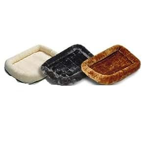 "Midwest Quiet Time Pet Bed, Ultra-soft synthetic sheepskin, Color: Cinnamon, Size: 30"" x 21"" Animal de compagnie / familier, Chouchou"