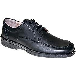 Zapato de Piel para Hombre. Cómodos y Transpirables 24 Horas. Calzado Especial para pies delicados. Fabricado en España. Disponibles Desde la Talla 39 hasta la Talla 47 - Primocx 6992 (42)