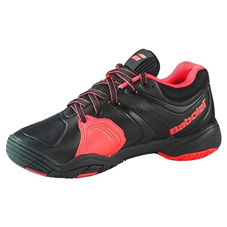 Babolat 32S1305 Children's V-PRO 2 KID Black/Bright Red Tennis Shoes size  1/ UK:SIZE J1: Amazon.co.uk: Shoes & Bags