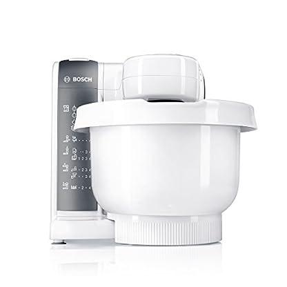 Bosch-MUM48020DE-Kchenmaschine-600-W-39-L-Durchlaufschnitzler-Mixer-Aufsatz-wei