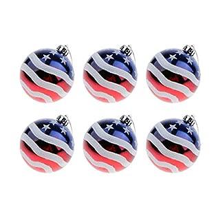 P-Prettyia-6X-USA-Flagge-Weihnachtskugeln-Christbaumkugeln-Hngende-Kugeln-fr-Baum-Fenster-Tr-und-Garten-aus-Plastik