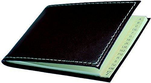 CAMBRIDGE Mini-Adressbuch Querformat Leather schwarz