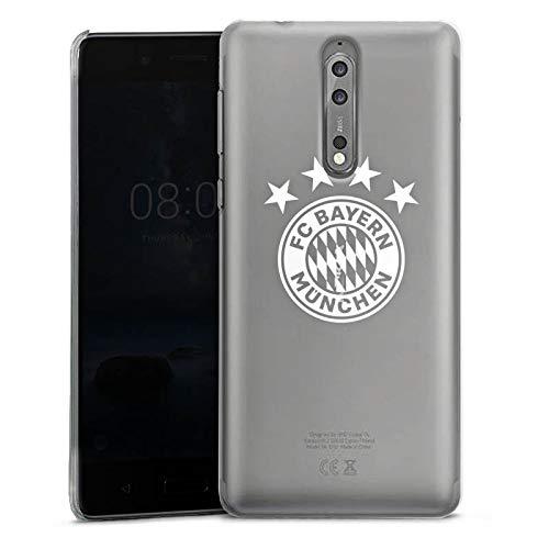 DeinDesign Nokia 8 Hülle Case Handyhülle FC Bayern München ohne Hintergrund 4 Sterne