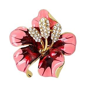 Aisoway Weinlese-Kristallrosen-Blumen-Brosche Kleidung Dekoration Schmuck