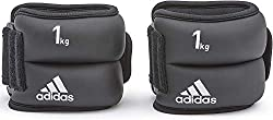adidas weight cuffs Ankle and Wrist, Bodytex material, black, 2 x 1,0kg, AD-12228
