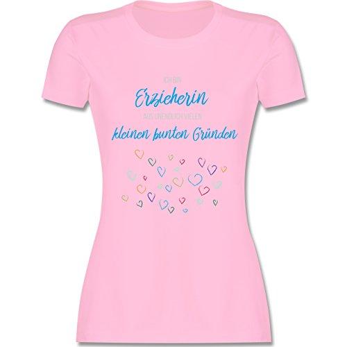 Sonstige Berufe - Erzieherin Aus Vielen Kleinen Gründen - M - Rosa - L191 - Damen T-Shirt Rundhals