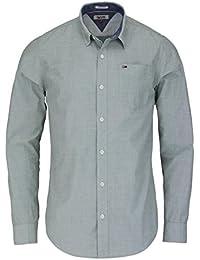 Hilfiger Denim Thdm Basic Solid Shirt L/S 38, Chemise Casual Homme