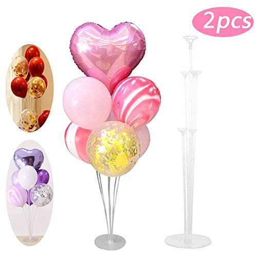 Porta palloncini trasparente, 2 pezzi, accessori per decorazioni per palloncini, materiale in pvc di alta qualità, può essere utilizzato per feste di compleanno e decorazioni di nozze aspettare