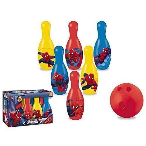 Lively Moments Bowling - Set / Kegelset / Bowlingpins / Spielzeug von Marvel Spider - Man für Kinder