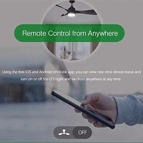 Sonoff Homelett Smart Driver Remote for Ceiling Fan and LED, Converts Non-Smart LED Ceiling Fan to WiFi Smart Ceiling Fan with Light Model iFan02, Multicolour