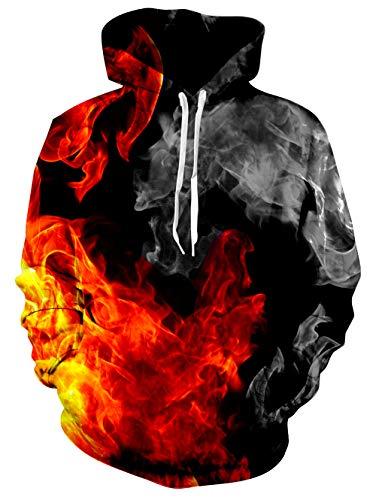 8ebd824f7124 Vogseek Unisex Hoodies HD 3D Print Pullover Lightweight Sweatshirts with  Pockets Purple Galaxy Wolf