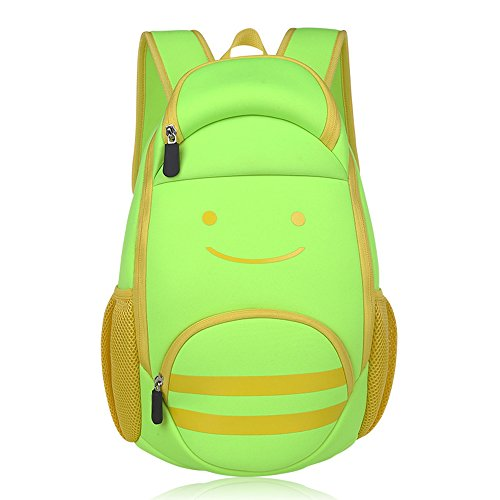 KINDOYO Wasserdichter Rucksack für Kinder Unisex Schultaschen Jungen Mädchen für Reisen, Wandern, Sport Grünes Lächeln
