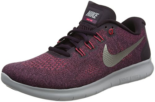 Nike Free RN 2017, Scarpe Running Donna Rosso (Bordeaux/metallic Pewter-port Wine-solar Red 603)