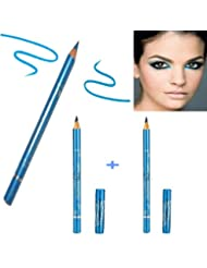 Kit Gemey Maybelline New York 2 Crayons Expression Kajal Bleu Metallique ( n°42 Metallic Blue )