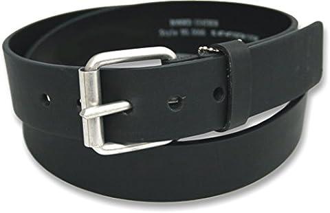 Mens 38mm Leather Smart / Casual Jeans Black Belt Size 40
