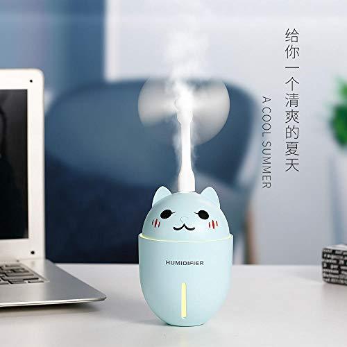 BaoQiaXieFuWangDian Handheld Ventilator Mini tragbare Outdoor Fan Tischlampe niedlichen Haustier feuchtigkeitsspendende Instrument Cartoon Fan DREI in einem Schlafzimmer Tischventilator