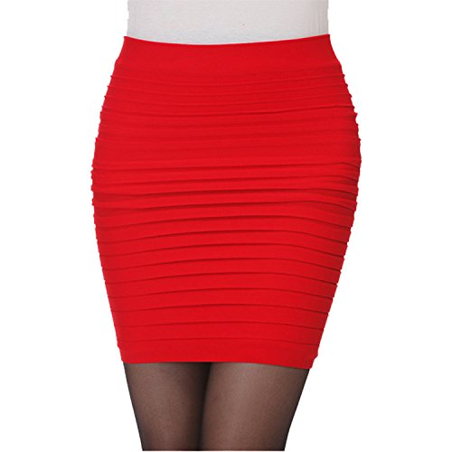 NEW-LADIES-WOMENS-BODYCON-PANEL-STRETCH-RIBBED-BANDAGE-MINI-PARTY-SKIRTS-ALL-SIZE-AND-COLOUR-ARE-AVAILABLE-IN-LISTING