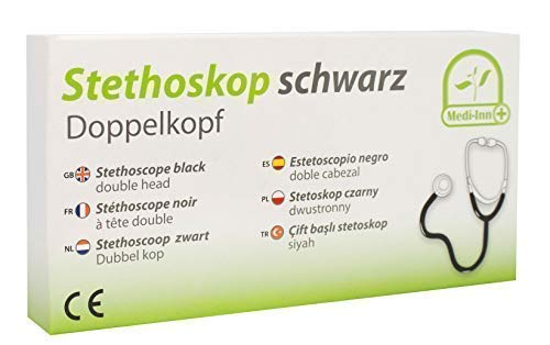 Stethoskop Doppelkopf Farbe: schwarz von Medi-Inn super Akustik PZN: 04461778