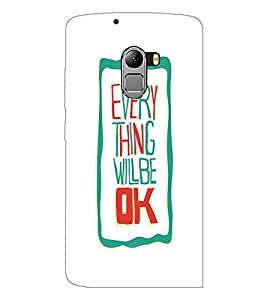 PrintDhaba Quote D-4241 Back Case Cover for LENOVO VIBE K4 NOTE (Multi-Coloured)