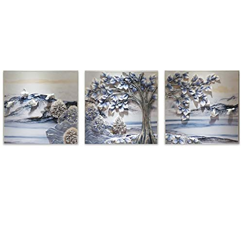 Yongyong Wandbild Moderne Minimalistische 3D Dreidimensionale Malerei Landschaftsmalerei Europäische Dreifache Malerei Wandbild 70 * 70 cm (Farbe : A, größe : 70 * 70cm) - Crystal Malt