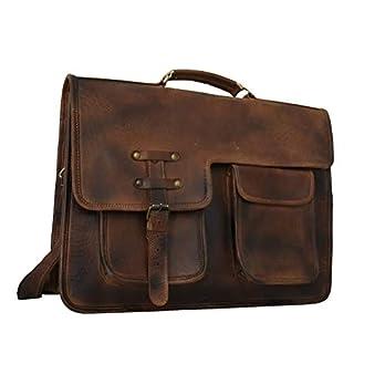 Adwaita 18 Inch handgemaakte antieke klassieke lederen Messenger Satchel Laptop lederen tas lederen Messenger Bag met regen