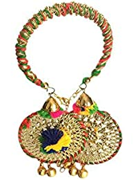 Loops N Knots Multi-Colour Bangle With Multi-Colour Charm Hangings/Lumba Rakhi/Wrist Band/Armlet/Bracelet For...