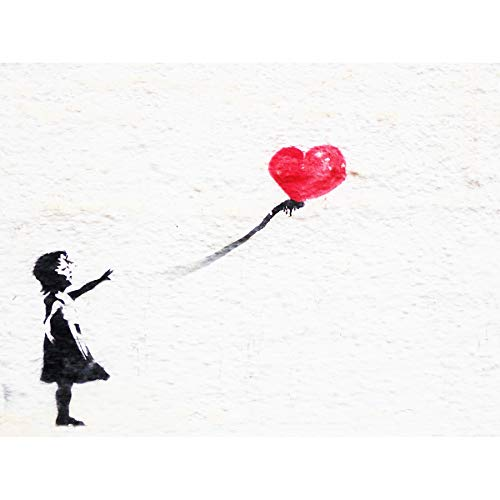 Banksy Balloon Girl Graffiti Art Print Canvas Premium Wall Decor Poster Ballon Mädchen Wand Deko - Art Print Poster