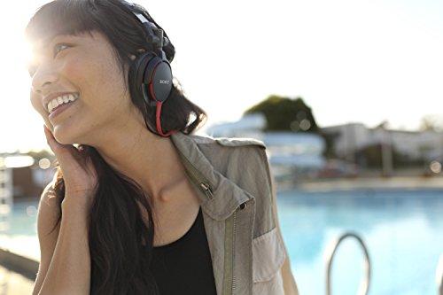 Sony MDRV55/BR DJ Stereo Kopfhörer Rot - 3