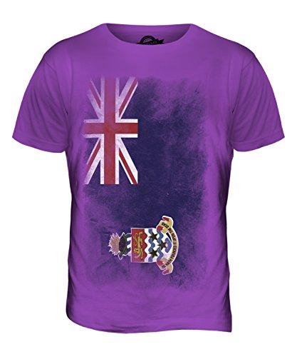 CandyMix Cayman Islands Verblichen Flagge Herren T Shirt Violett