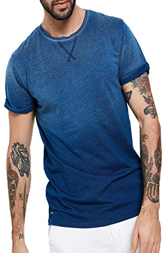 Threadbare Herren Blusen T-Shirt, Einfarbig blau blau Small Gr. Medium, indigoblau -