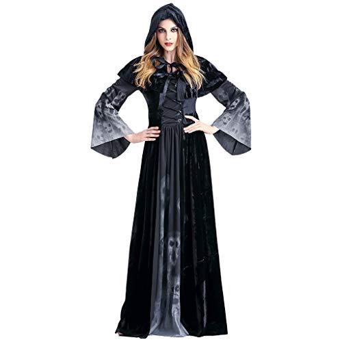 Königin Mädchen Renaissance Kostüm - Halloween Kostüm Damen Langarm Mittelalter Kleid Gothic Viktorianischen Königin Kostüm V-Ausschnitt Prinzessin Renaissance Bodenlänge Mehrfarbig Kleider